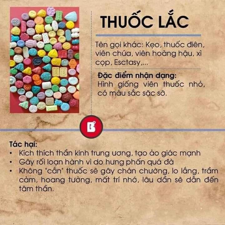 Thuốc lắc - 1 trong các chất gây kích thích hệ thần kinh